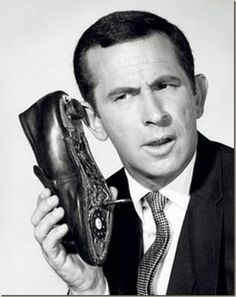 Don Adams and his phone shoe. I thought this was the coolest thing on earth when I was little!
