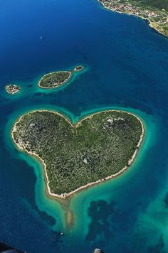 Galesnjak, Croatia...I love the way this island looks like a heart...amazing