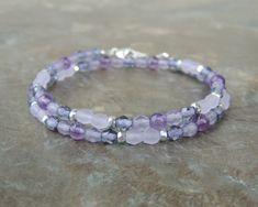 Amethyst Bracelet - Boho Bracelet for Women - Wrap Bracelet for Her - Stone Bracelet - Gemstone Choker Necklace - Boho Choker- Dainty Choker by lelizabethjewelry on Etsy https://www.etsy.com/listing/603339403/amethyst-bracelet-boho-bracelet-for