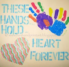 Make a Handprint Keepsake Gift for Grandma this Grandparent's Day .... cute saying!