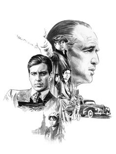Godfather, saga. Godfather by *jasonpal on deviantART.  All three I, II, and III were great.  I love the Godfather trilogy.  My favorite one is the second one, great movie.