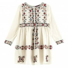 girls' dress -- GARLAND Cream Antik Batik - Automne Hiver 2013