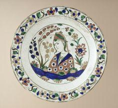 * Fritware, underglaze-painted 2 3/4 x 13 3/4 in. (6.99 x 34.93 cm) The Nasli M. Heeramaneck Collection, gift of Joan Palevsky (M.73.5.380) Islamic Art .