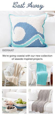 Cast Away Collection | Bernat | Yarnspirations | Home Decor |