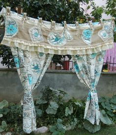 Shabby Chic Burlap Valance Rustic Country Valance by cocomiahome