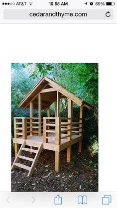 Cool play fort....outdoor art studio #playhousebuildingplans