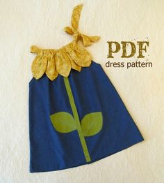 Sunny Flower Pillowcase Dress - Girl Sewing Pattern - PDF Pattern Tutorial Easy Sew Sizes thru 10 included The Sunny Flower Pillowcase Dress is our take on a classic. Some dresses will never go out of style. The pillowcase dress is definitely one of Love Sewing, Sewing For Kids, Baby Sewing, Sewing Patterns Girls, Pattern Sewing, Toddler Dress Patterns, Skirt Patterns, Pattern Drafting, Blouse Patterns