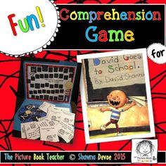 A fun way to practice comprehension with this True False Comprehension Game inspired by David Goes to School by David Shannon.