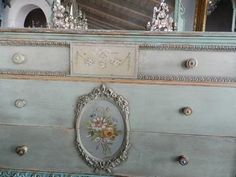 from myparisfleamarket.com & repin of Donna Spiegel - like the coloring & distressing of this dresser!