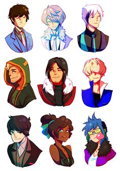 HEADS more heads. by =fishnbacon on deviantART