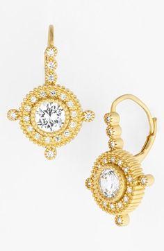 lovely gold drop earrings