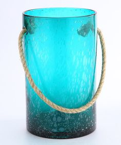 Look what I found on #zulily! Rope Handle Glass Vase by Diamond Star #zulilyfinds