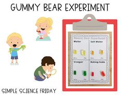 Simple Science: Gummy Bear Experiment | First Grade Buddies Gummy Bear Experiment, Definite And Indefinite Articles, Dont Feed The Bears, Easy Science, Science Ideas, Algebraic Expressions, Bad Cats, Recording Sheets, Gummy Bears