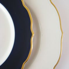 Vintage Restaurant Ware Salad and Dinner Plate, Syracuse China, Gold Rimmed Scalloped Plates, Vintage Restaurant Dishes.
