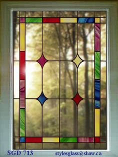 """Stunning Stain glass window That will never go out of style WoW 24"""" x 28"""" #SD"""