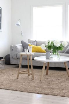 Two table for coffee table home sweet home table basse scandinave, salon . Decor, Living Room Inspiration, Room Inspiration, Home And Living, Living Room Designs, Interior Design, Home Decor, House Interior, Home Deco