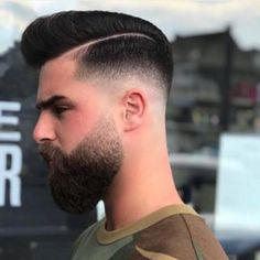 Short Hair With Beard, Mens Hairstyles With Beard, Boy Hairstyles, Haircuts For Men, Faded Beard Styles, Beard Styles For Men, Hair And Beard Styles, Short Hair Styles, Pompadour Fade Haircut