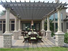 Patio Design with Pergola. Backyard Pavilion, Pergola Patio, Pergola Kits, Backyard Patio, Pergola Ideas, Pavers Ideas, Patio Ideas, Metal Pergola, Backyard Ideas