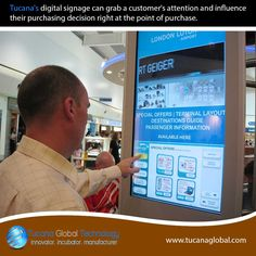 #Tucana's #digitalsignage can grab a #customer's attention and influence their #purchasing decision right at the point of #purchase. #TucanaGlobalTechnology #Manufacturer #HongKong