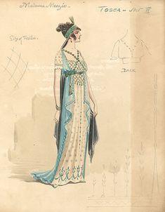 Tosca  Covent Garden, 1914  Costumes designed by Attilio Comelli