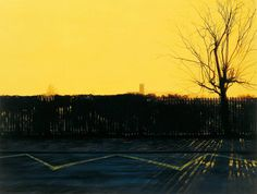 George Shaw, Ash Wednesday: Copyright: the artist and Wilkinson Gallery, London. Contemporary Landscape, Urban Landscape, Landscape Art, Landscape Paintings, Landscape Photography, Jackson's Art, Ash Wednesday, Unusual Art, Great Paintings