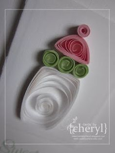 Cute quilled baby's bottle card ~!~