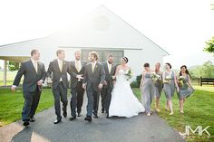 loving the gray and yellow | www.jmk-photos.com, King Family Vineyard #wedding