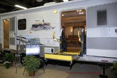 Wheelchair accessible RV's allow you to travel with all the comforts of home.