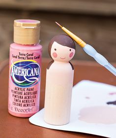 DIY Tutorial: Wooden Peg Fairy Dolls