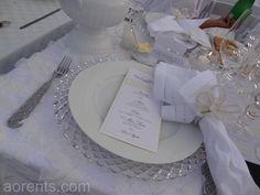 Diner en Blanc Cincinnati 2012 Tabletop Winner designed by Robert H. Hughes, All Occasions Event Rental