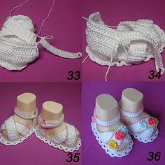 Подробный мастер-класс: вяжем пинетки-сандалии крючком - Ярмарка Мастеров - ручная работа, handmade