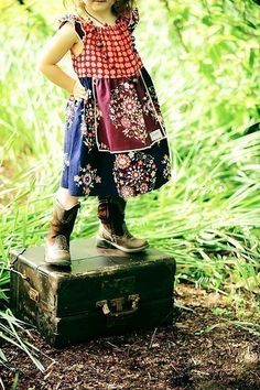 my little girl will definatly look like this! dress and boots all the way =)