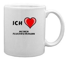 Keramische Tasse mit Aufschrift Ich liebe meinen Feuerwehrmann - http://geschirrkaufen.online/shopzeus/keramische-tasse-mit-aufschrift-ich-liebe-meinen