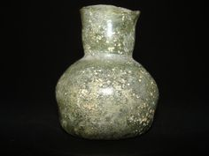 Roman Squat Glass Bottle : Vetro Antico Romano