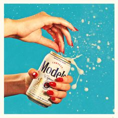 Gel manis: strong enough to crack a can of beer without chipping a nail. #manicure #gelmanicure