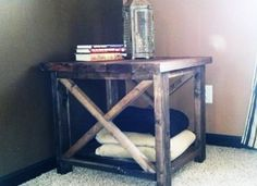 Rustic X End Table - Love it!   Do It Yourself Home Projects from Ana White