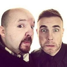 For all of the #TakeThat fans out there here is a shot of #GaryBarlow and #AndyGotts at Flemings Mayfair! #FunnyFaces #Happiness