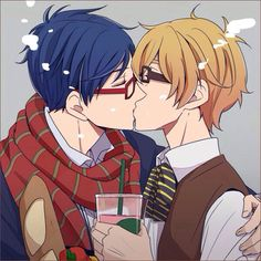 Nagisa x Rei OW MY. FOOT HERTS FROM THE CUTENESS