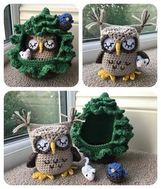 Owl in a Tree Playset Crochet Pattern Crochet Cow, Crochet Teddy, Crochet Gifts, Cute Crochet, Kids Crochet, Crochet Dolls, Easter Crochet Patterns, Amigurumi Patterns, Cow Pattern