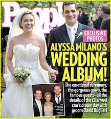 Image result for alyssa milano wedding