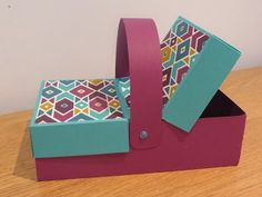 Double Flap Lid Picnic Box Tutorial, Handmade with Stampin' Up Products, Picnic Basket Style. - YouTube