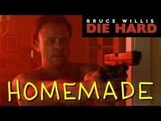 Homemade Remake of the Hans Gruber Death Scene in 'Die Hard'