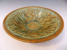 Wheel thrown textured terracotta bowl with by MarkCampbellCeramics, $40.00