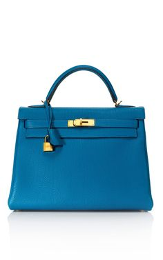 Classic Kelly: 32cm Cobalt Fjord Leather