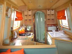 narrowboat interior scandinavia - Google Search
