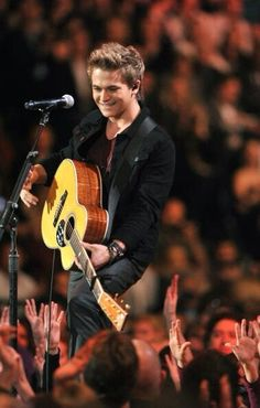 Hunter Hayes- saw him in concert at the Del Mar Fair and he was absolutely incredible.