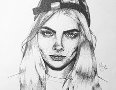 """Check out new work on my @Behance portfolio: """"Cara Delevingne Portrait (only fineliner dots used)"""" http://be.net/gallery/48577831/Cara-Delevingne-Portrait-(only-fineliner-dots-used)"""