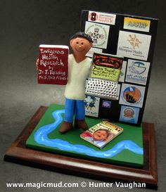 Customized Christmas gift for a Guy  www.magicmud.com 1 800 231 9814 creating a custom made gift figurine for any man based on the things he likes to do! ...incorporating his work, sports, family, hobbies, food, drink, electronic gadgets, etc. $225   #dad #men #guys #christmas #birthday #anniversary #custom #personalized #xmas #present #award #ChristmasGift #BirthdayGift #husband