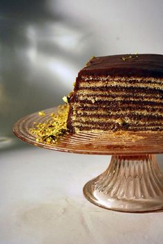 Dobos Cake – Sponge cake with chocolate buttercream-need a special occasion to make this, always wanted to!!
