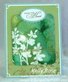 faux bleach alcohol ink watercolor trio by kellysrose - Cards and Paper Crafts at Splitcoaststampers